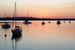 Macleay Island Boats at Sunset
